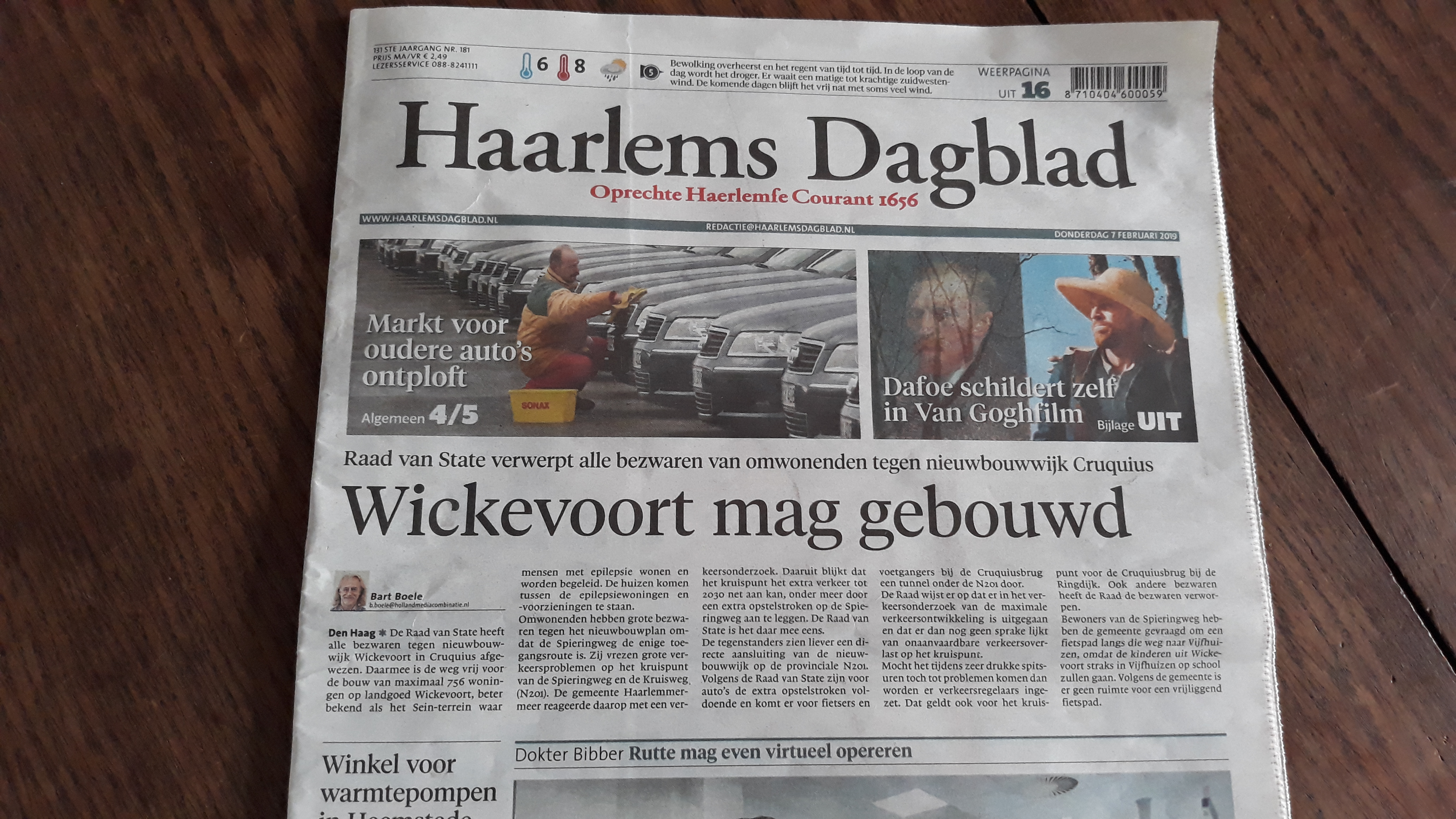 2019 02 07 Haarlems Dagblad